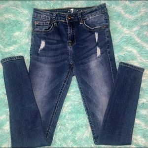 7 FOR ALL MANKIND Skinny Distressed Jean